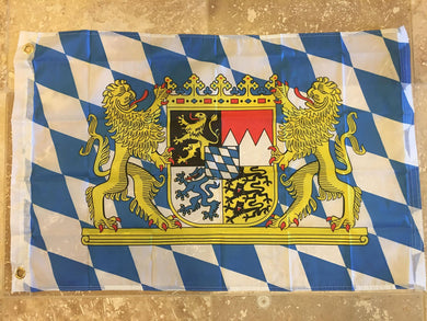 BAVARIA ROYAL CREST LIONS 68D NYLON FLAG 2'X3'