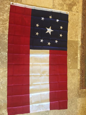 STARS & BARS NAVY JACK CS 11 STAR OFFICIAL 1ST NATIONAL CS FLAG 68D NYLON 3'X5'
