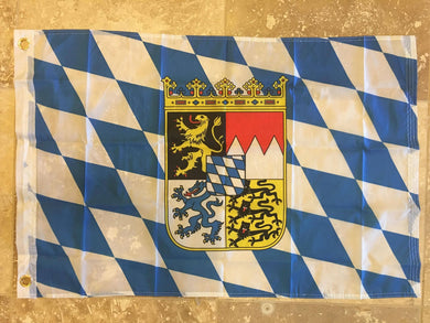 BAVARIA ROYAL CREST 68D NYLON FLAG 2'X3'