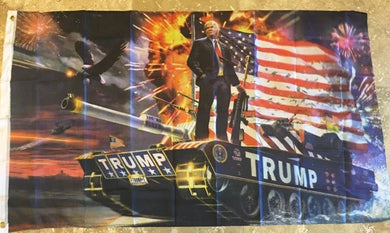 TRUMP TANK COMMANDER 68D NYLON 3'X5' MAGA