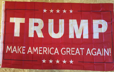 TRUMP MAKE AMERICA GREAT AGAIN! RED FLAG 68D NYLON 3'X5' MAGA
