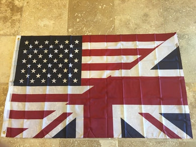 (AMERICA ENGLAND) USA UNITED STATES UK FRIENDSHIP FLAG 68D NYLON 3'X5' OFFICIAL