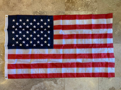 United States Flag 3'X5' Rough Tex® 150D Embroidered Nylon