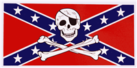 Rebel Pirate Bumper Sticker