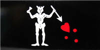 Jolly Roger Blackbeard Bumper Sticker