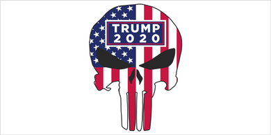 Punisher Trump 2020 Stars And Stripes  - Bumper Sticker