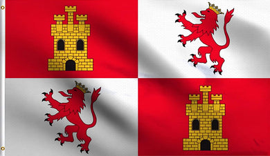 Spanish flag of Leon and Castile 3'X5' ROUGH TEX®100D