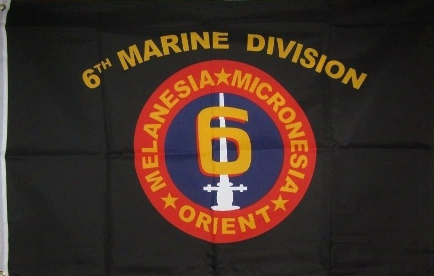 6th Marine Division 3'X5' Flag Rough Tex® Super Polyester