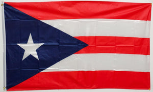 "Puerto Rico Dark Blue- 12""X18"" Rough Tex ® 68D Nylon Flag With Grommets"