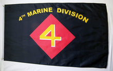 4th Marine Division 3'X5' Flag Rough Tex® Super Polyester