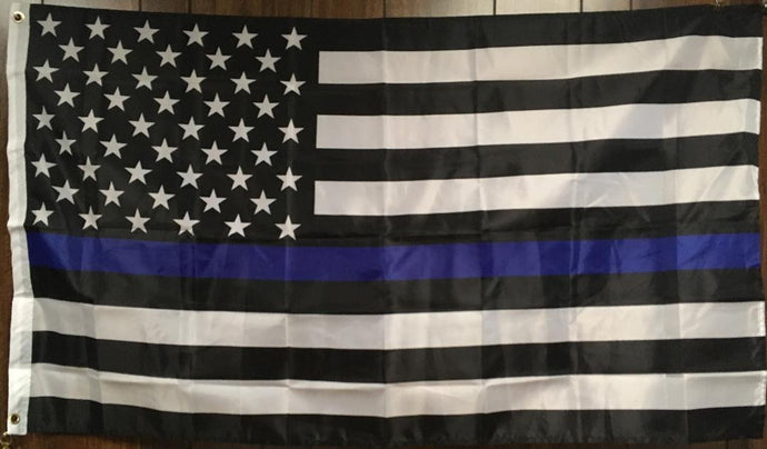 Police Thin Blue Line Memorial American Blue Lives Matter 3'X5' 100D Flag Rough Tex ® American History