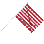 "First Navy Jack 12"" x 18"" Polyester Stick Flag"
