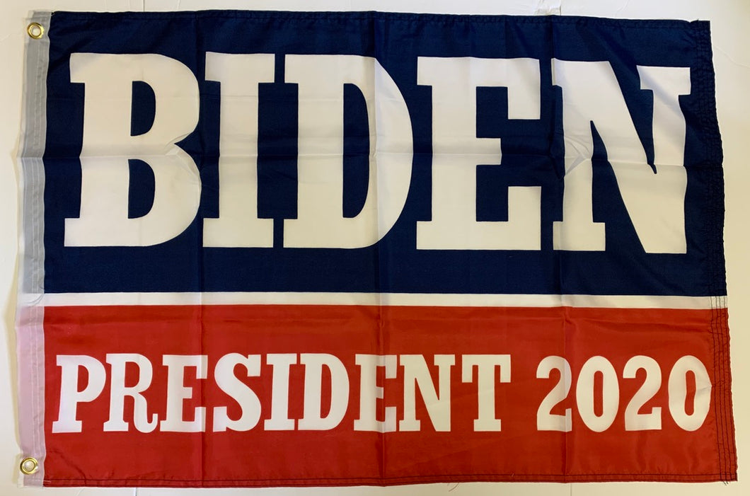 *TEMPORARILY OUT OF STOCK* Biden President 2020 Democratic Presidential Blue And Red Single Sided Flag 2'X3' Rough Tex® 100D