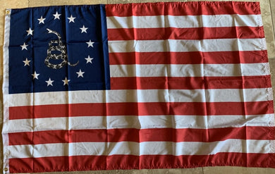 Betsy Ross Gadsden Flag 3'x5' 100D Flag Rough Tex ®