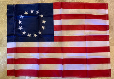 Betsy Ross Flag With Sleeve Rough Tex ® 28''x 40'' 150D