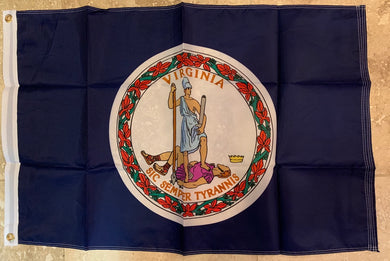Virginia Flag Sic Semper Tyrannis Rough Tex ® 2'x3' 150D Flags
