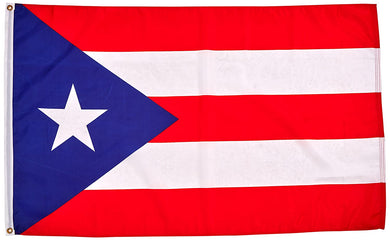 Puerto Rico Embroidered 2'X3' Flag Rough Tex® 210D