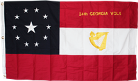 24th Georgia Vols 3'x5' Cotton Flag