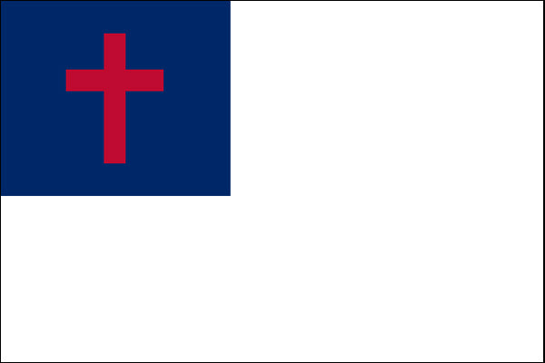 Christian 3x5ft Nylon 150D Flag