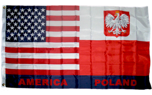 USA American Poland 3x5ft Nylon 150D Flag POLSKA