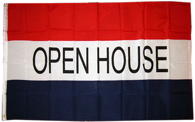 Open House 3'x5' Polyester Flag