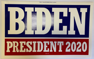 "Biden 2020 Red And Blue Double Sided Yard Sign 14.5""X 23"" Inches"