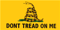 Gadsden Bumper Sticker - Green Grass
