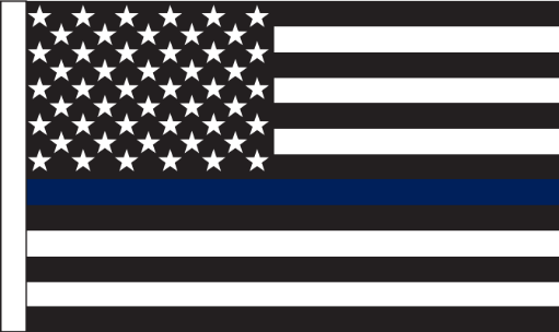 US Police Memorial 3'X5' Flag Rough Tex® 150D Nylon