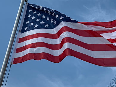 USA Embroidered Nylon Single Sided 3'X5' Flag Rough Tex® 150D