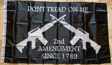 2nd Amendment Since 1789 Don't Tread On Me M4 Black Flag 2'X3'' Rough Tex® 68D Nylon