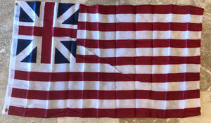 AMERICAN U.S.A. GRAND UNION REVOLUTIONARY WAR FLAG 150D NYLON PREMIUM UV PROTECTED WATER PROOF 3'X5' FLAGS ROUGH TEX