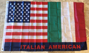 AMERICAN ITALIAN USA ITALY FRIENDSHIP FLAG 150D NYLON PREMIUM UV PROTECTED WATER PROOF 3'X5' FLAGS ROUGH TEX