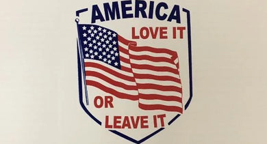 AMERICA LOVE IT OR LEAVE IT VINTAGE OFFICIAL BUMPER STICKER PACK OF 50 BUMPER STICKERS MADE IN USA WHOLESALE BY THE PACK OF 50!