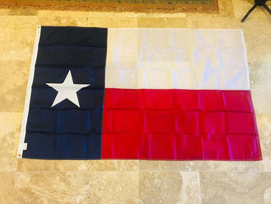 TEXAS 2'X3' EMBROIDERED 210D FLAG