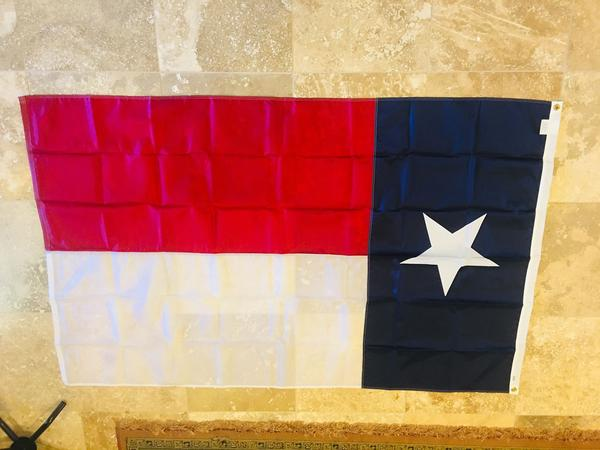 TEXAS 3'X5' EMBROIDERED 210D FLAG