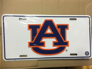 """AU"" AUBURN UNIVERSITY LICENSE PLATE"