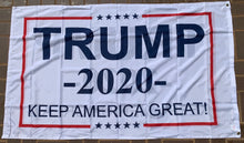 Trump 2020 Keep America Great KAG White 3'X5' Double Sided Flag- Rough Tex® 100D