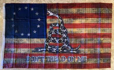 Betsy Ross Don't Tread On Me Vintage Flag 3'X5' Rough Tex® 100D
