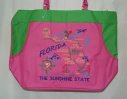 KEY WEST CONCH REPUBLIC BEACH BAGS (CHOICE OF KEY WEST BIKINI & PALM, TROPICAL DRINK FIESTA & SEA SHELLS, BLACK PIRATE, CONCH REPUBLIC FLAG BAG & THE STATE OF FLORIDA OFFICIAL BEACH BAGS)