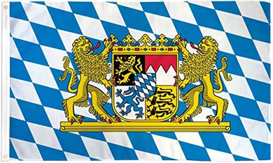 12 2'X3' BAVARIA LION FLAG 100D GERMANY FLAGS BY THE DOZEN WHOLESALE PER DESIGN!