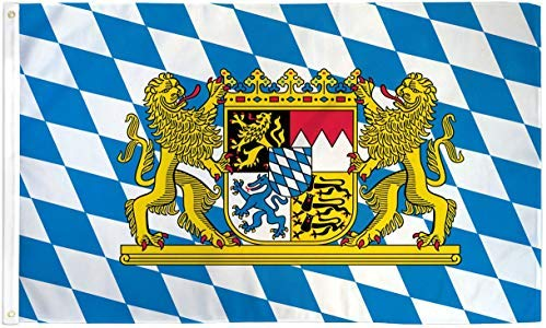 3'X5' BAVARIA LION FLAG 100D GERMANY