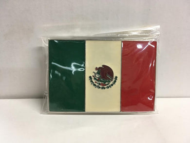 MEXICAN FLAG BELT BUCKLE MEXICO