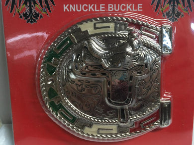 BELT BUCKLE MEXICAN AZTEC SADDLE