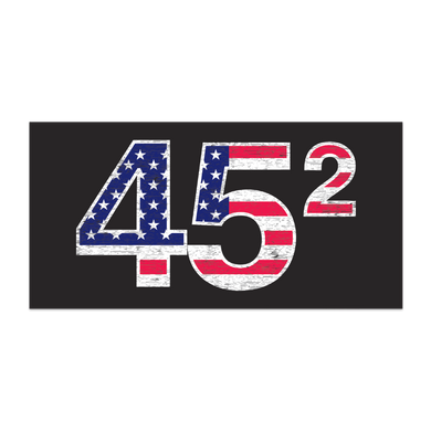 TRUMP 45 SQUARED 2 TERMS BUMPER STICKER PACK OF 50 WHOLESALE FULL COLOR