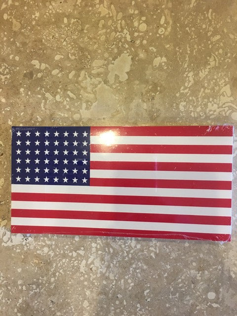 OLD GLORY 48 STARS AMERICAN USA FLAG OFFICIAL BUMPER STICKER PACK OF 50 BUMPER STICKERS MADE IN USA WHOLESALE BY THE PACK OF 50!