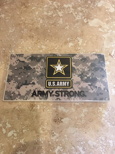 ARMY STRONG CAMO BUMPER STICKER SOLD BY THE PACK OF 50