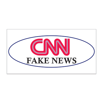 CNN FAKE NEWS BUMPER STICKER PACK OF 50 WHOLESALE FULL COLOR