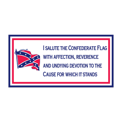 CSA PLEDGE CONFEDERATE BATTLE FLAG BUMPER STICKERS PACK OF 50 WHOLESALE REBEL