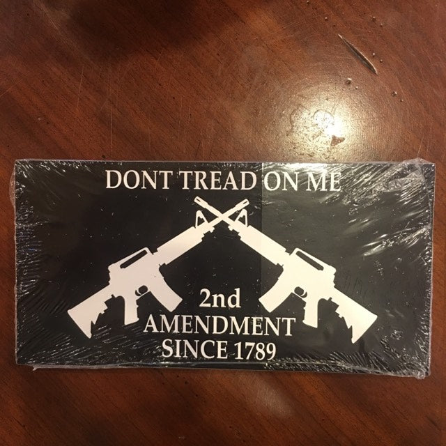 DON'T TREAD ON ME 2ND AMENDMENT 1789 CROSSED RIFLES BLACK TACTICAL SEAL OFFICIAL BUMPER STICKER PACK OF 50 BUMPER STICKERS MADE IN USA WHOLESALE BY THE PACK OF 50!
