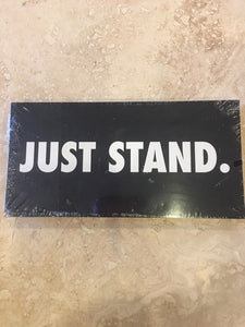JUST STAND BLACK TACTICAL OFFICIAL BUMPER STICKER PACK OF 50 BUMPER STICKERS MADE IN USA WHOLESALE BY THE PACK OF 50!